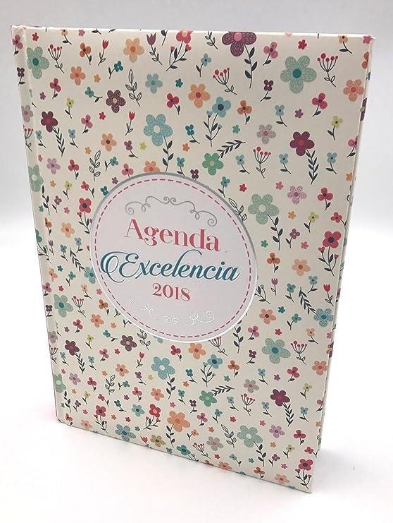Agenda 2018 Excelencia diseño flores: Amazon.es: Oficina y ...