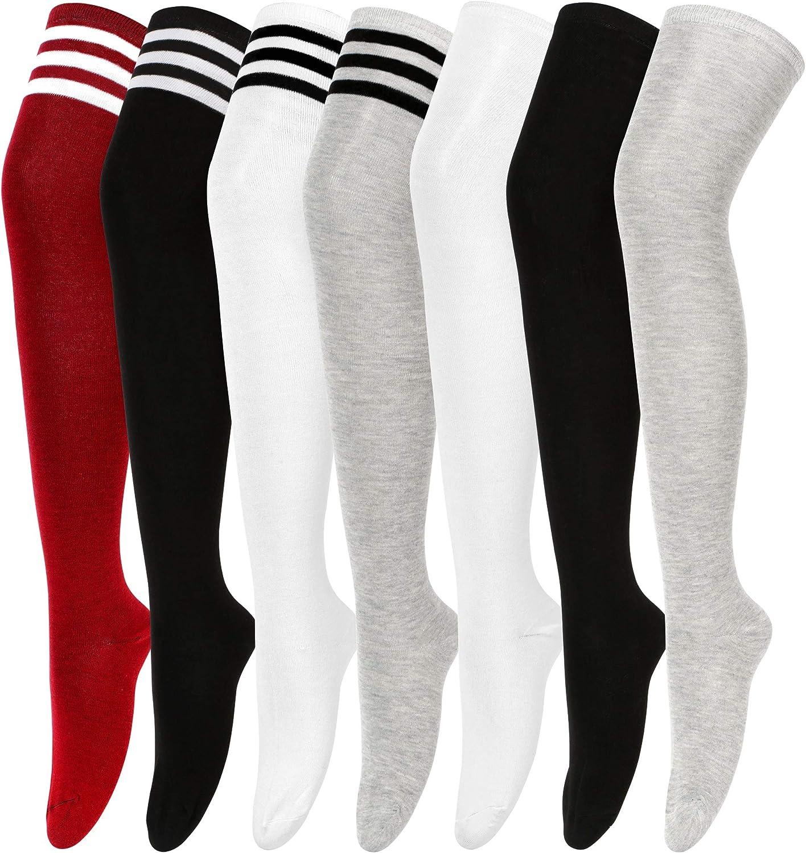 Women Girl Thigh High Socks Over the Knee High Warm Stocking Boot Long Socks