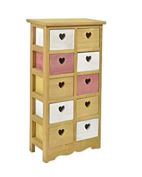ts-ideen cómoda cajonera 10 cajones estanteráa mueble para ninos