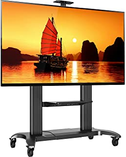 north bayou mobile tv stand heavy duty tv cart for massive lcd led oled flat panel