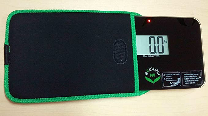 NewlineNY Travel Protection Sleeve for Super Mini 600 series SBB0638SM Series Bathroom Scales (Case only, no scale), NY-SMS-S001-BG Black with Green Edges: ...