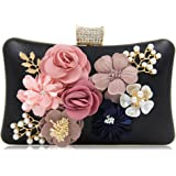 Milisente Women Evening Bag Flower Clutch Purse Wedding Clutch Bags