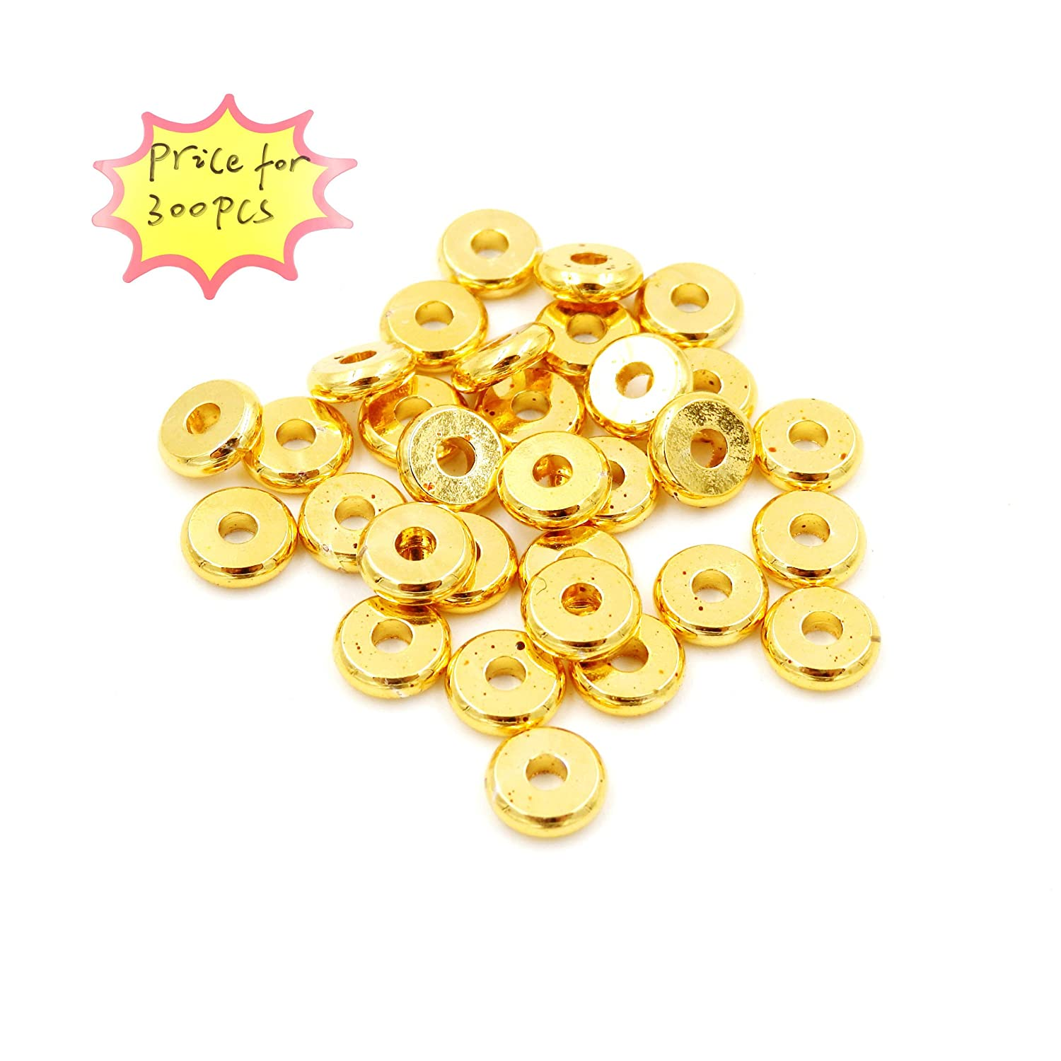 3mm Gold Metal Beads for Jewelry Making Jewelry findings Sold per Bag 900pcs Inside
