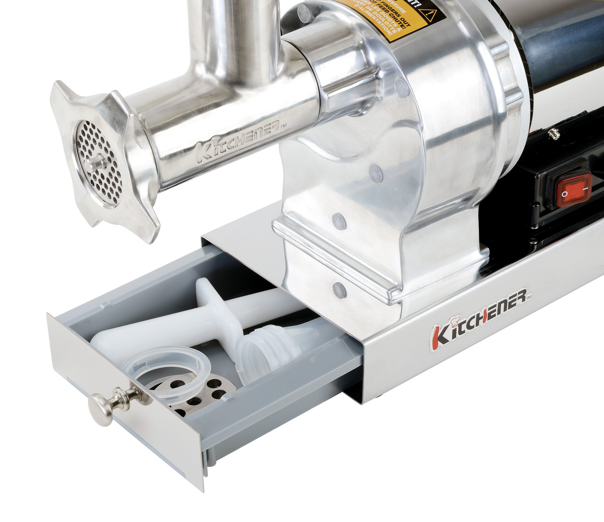 Kitchener #8 Commercial Grade Electric Stainless Steel Meat Grinder 1/2 HP (370W), (480-lbs Per Hour) by Kitchener (Image #2)