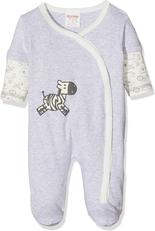Schnizler Baby-M/ädchen Schlafoverall Interlock Zebra Schlafstrampler