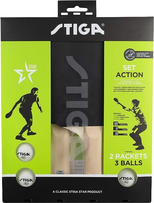 Stiga Unisex-Adult Hobby Instinct tischtennisschl/äger One Size Red//Black