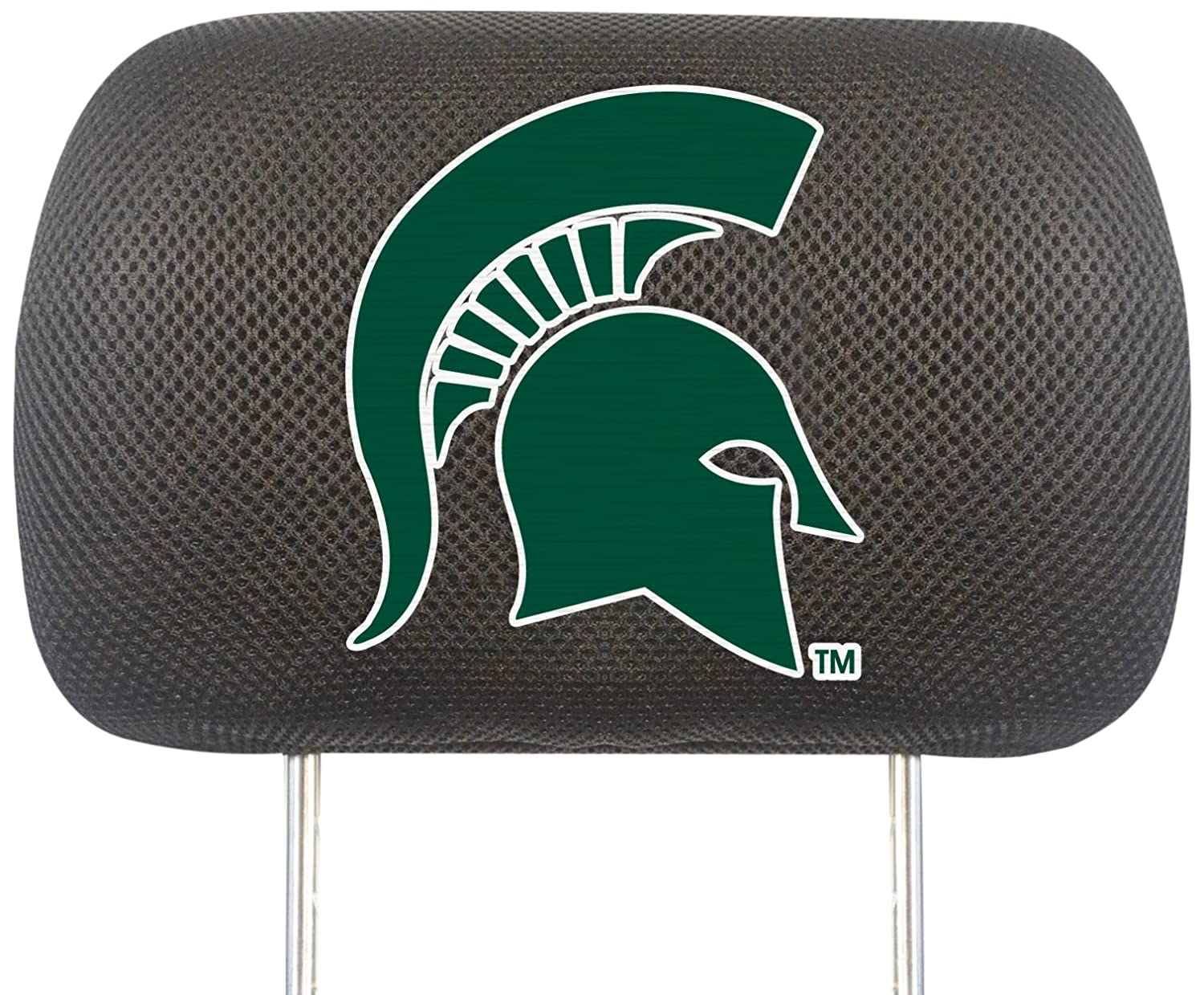 FANMATS NCAA Michigan State University Spartans Polyester Head Rest Cover 12583