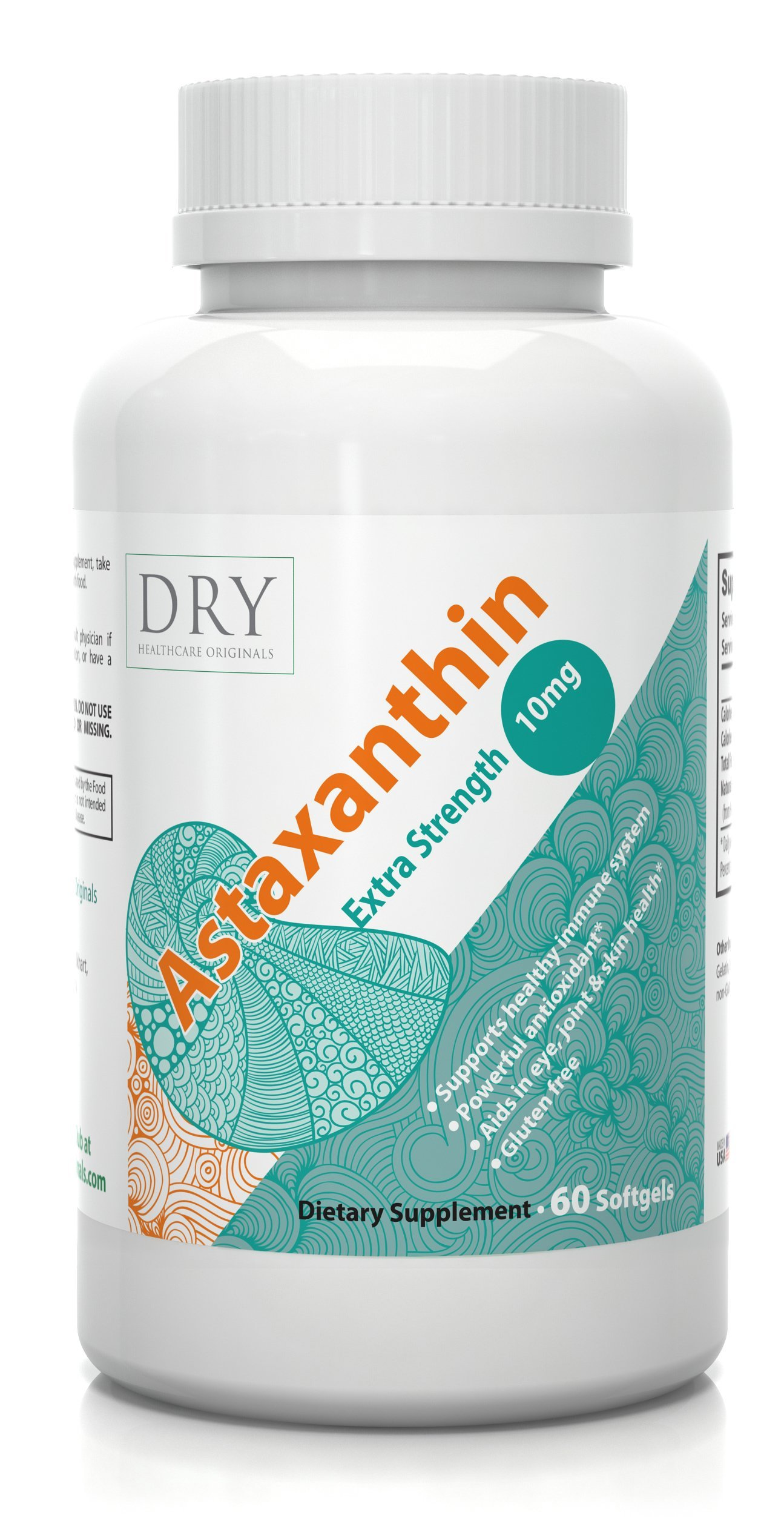 #1 High Potency Premium Astaxanthin 10 mg - Powerful Antioxidant Now - Free Radical Scavenger - ALL Natural Astaxanthin Gold - Supports Immune System - Boosts Eye, Skin & Joints Health - 60 Softgels