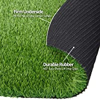 RoundLove Artificial Grass Turf, 3 Tone Synthetic Grass Patch Mat w/Drainage Holes...