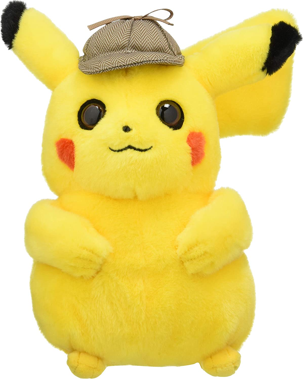Amazon Com Giochi Preziosi Detective Pikachu Pokemon Plush Toy Multicoloured Pkt01100 Toys Games