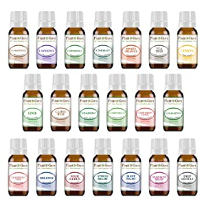 Plant Guru Essential Oils Singles Set – 14 Essential Oils