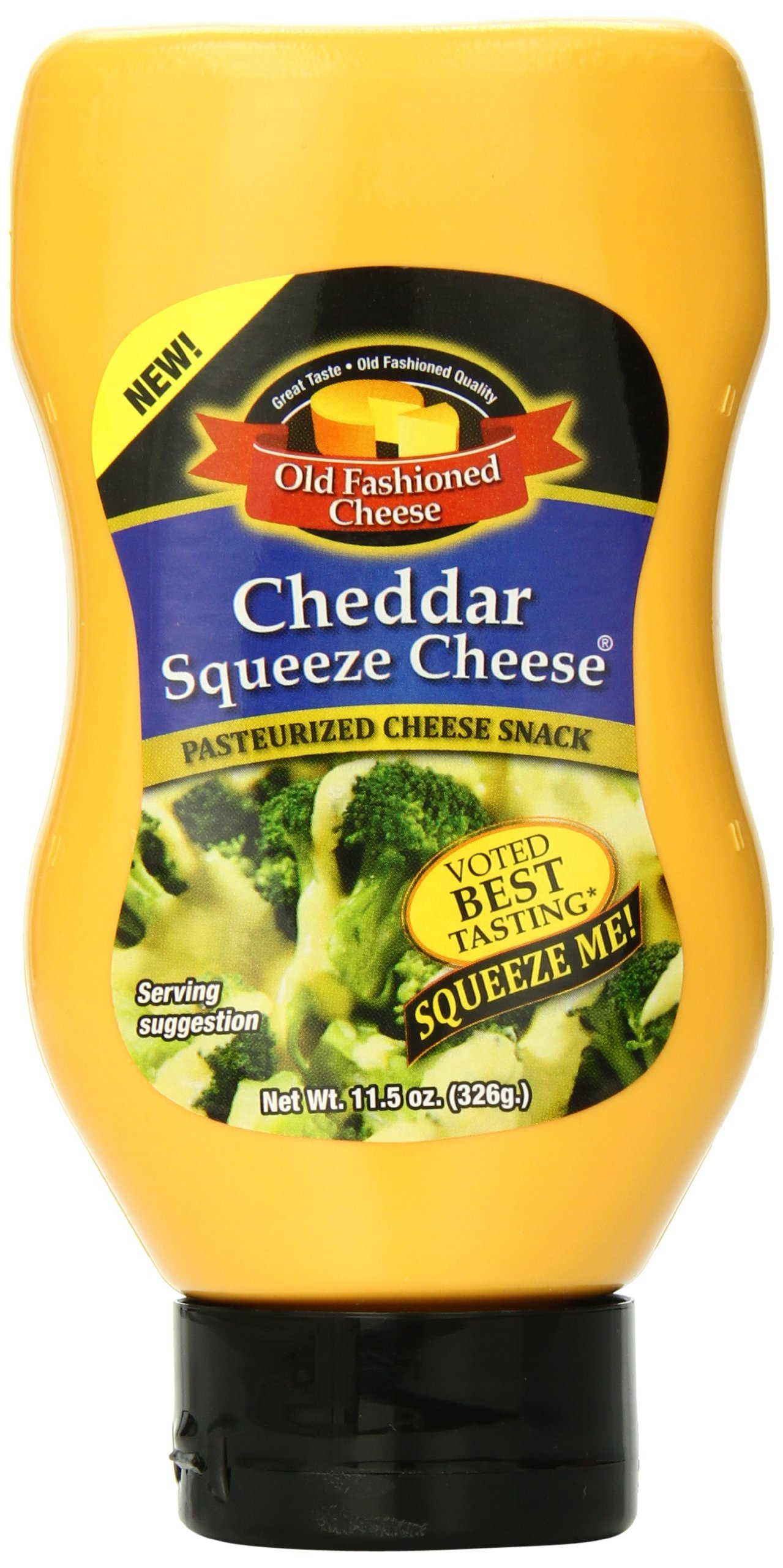Old Fashioned Cheese Cheddar Squeeze Cheese, 11.5 Ounce (Packaging may vary)