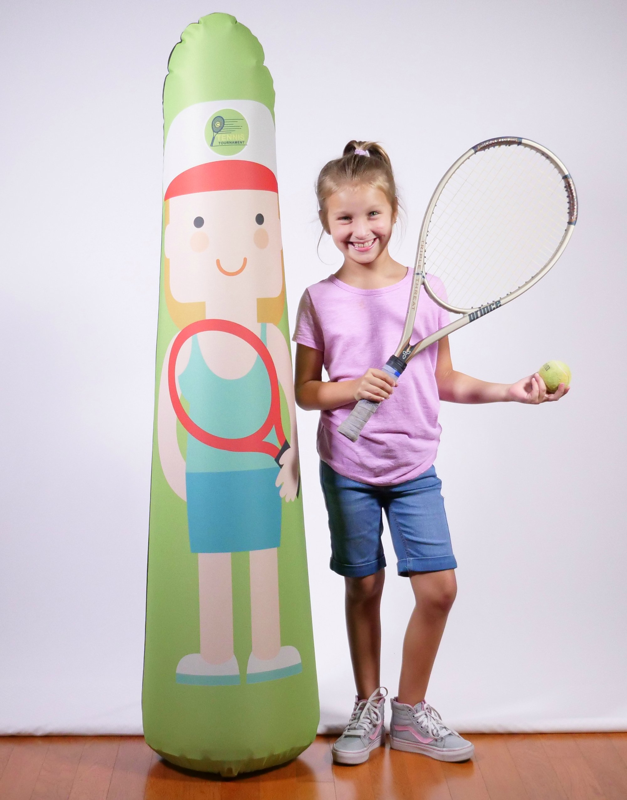 BONK FIT High Performance Polyurethane Inflatable Target, PVC-Free Pop Up Training Mannequin with One Year Warranty and Machine Washable Cover - Tennis 5ft by BONK FIT (Image #3)
