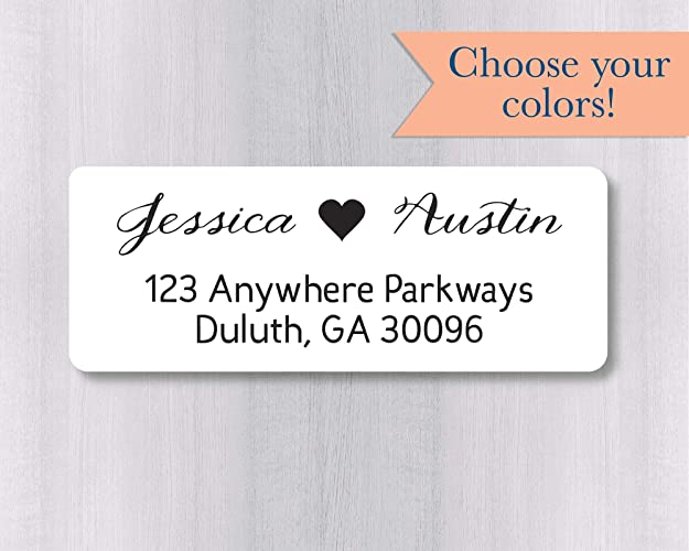 image regarding Printable Labels for Wedding Invitations called 60ct - Wedding ceremony Invitation Return Cover Labels, Wedding ceremony Invitation Return Include Stickers (#338-WH)