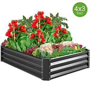 Best Choice Products Outdoor Metal Raised Garden Bed
