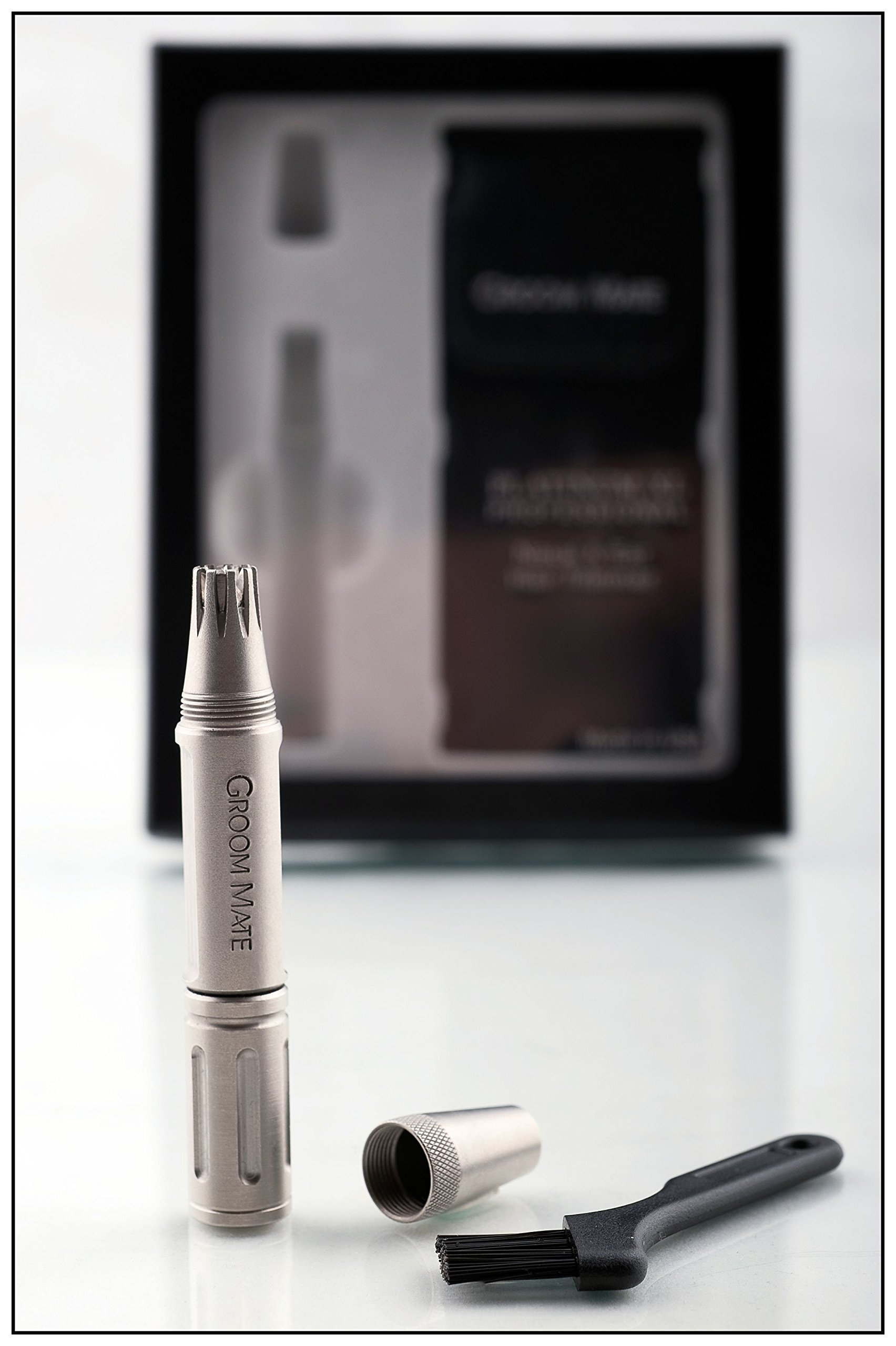 Groom Mate Platinum XL Professional Nasal/Nose & Ear Hair Trimmer w/Lifetime Warranty & Made in The USA by Groom Mate