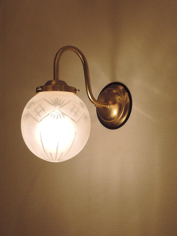 コンコルディア照明 美しいガラスシェードを使った真鍮製外灯玄関灯 真鍮色 EW243/G (106F/CUT) 106F/CUT  B00SMA6MA2