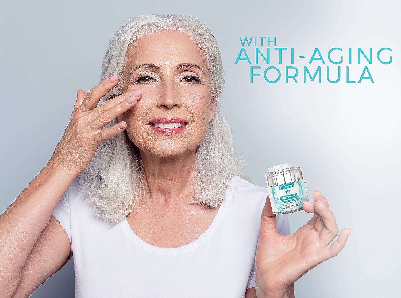 Amazon.com: Retinol Cream Moisturizer for Face and Eye Area - With Retinol, Hyaluronic Acid, Vitamin E - Anti Aging Formula Reduces Wrinkles, ...