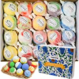 Bath Bombs Gift Set, 20 Wonderful Fizz Effect Handmade Bath Bombs for Valentine's Day, Christmas, Mother's Day, Father's Day,