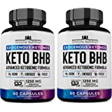 Keto Pills - [2 Pack | 120 Capsules] Advanced Keto Burn Diet Pills - Best Exogenous Ketones BHB Supplement | Keto BHB…