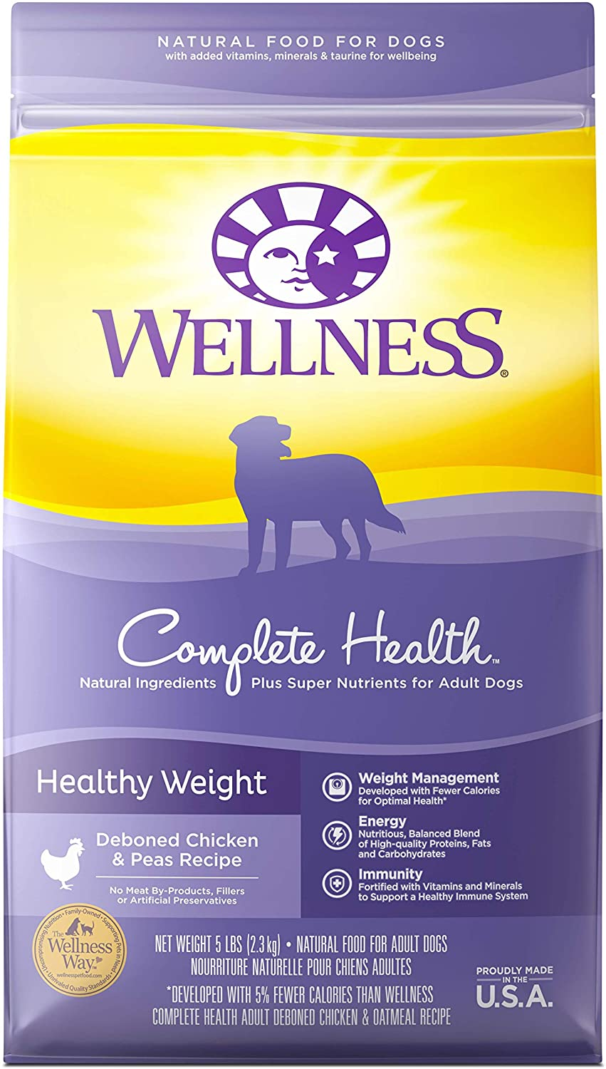 Wellness Complete Health Natural Healthy Weight Dry Dog Food