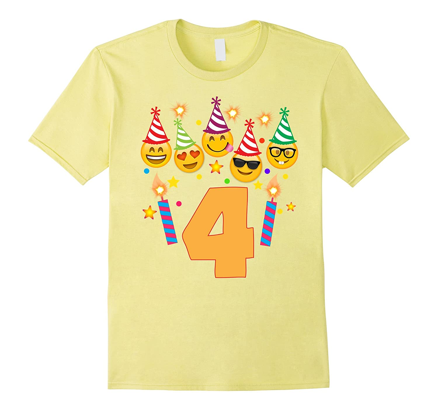Emoji Birthday Shirt For Four 4 Year Old Girl Boy Toddler CD