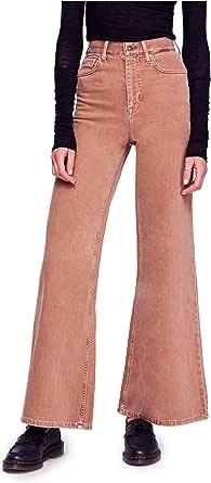 Free People Women's Super High Waist Wide Leg Jeans