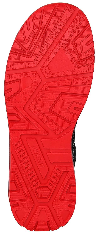 Herren Stahlkappe sportlich schwarz//rot leicht Sneaker ELTEN Sicherheitsschuhe MAVERICK black-red Mid ESD S3
