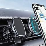 [2 Pack] LISEN Magnet Phone Holder for Car, [Upgraded Clip] Magnetic Phone Mount [6 Strong Magnet] Car Phone Magnetic Mount [