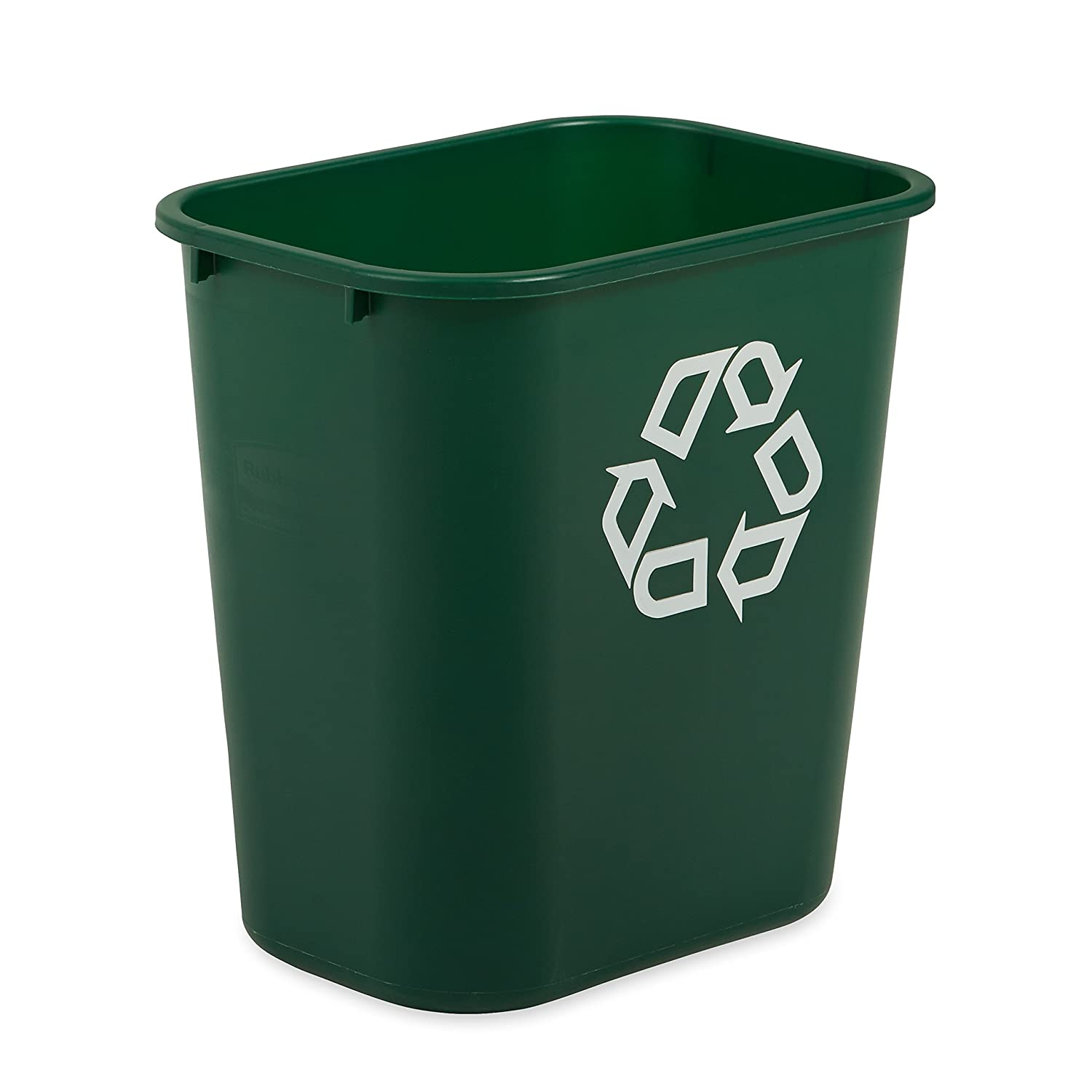 Rubbermaid Commercial Deskside Recycler, Green, Medium, Fg295606Grn