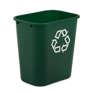 Rubbermaid Commercial Deskside Recycler, Green, Medium, FG295606GRN