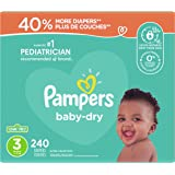 Diapers Size 3 - Pampers Baby Dry Disposable Baby Diapers, 240 Count, Ultra Value Pack (Packaging May Vary)