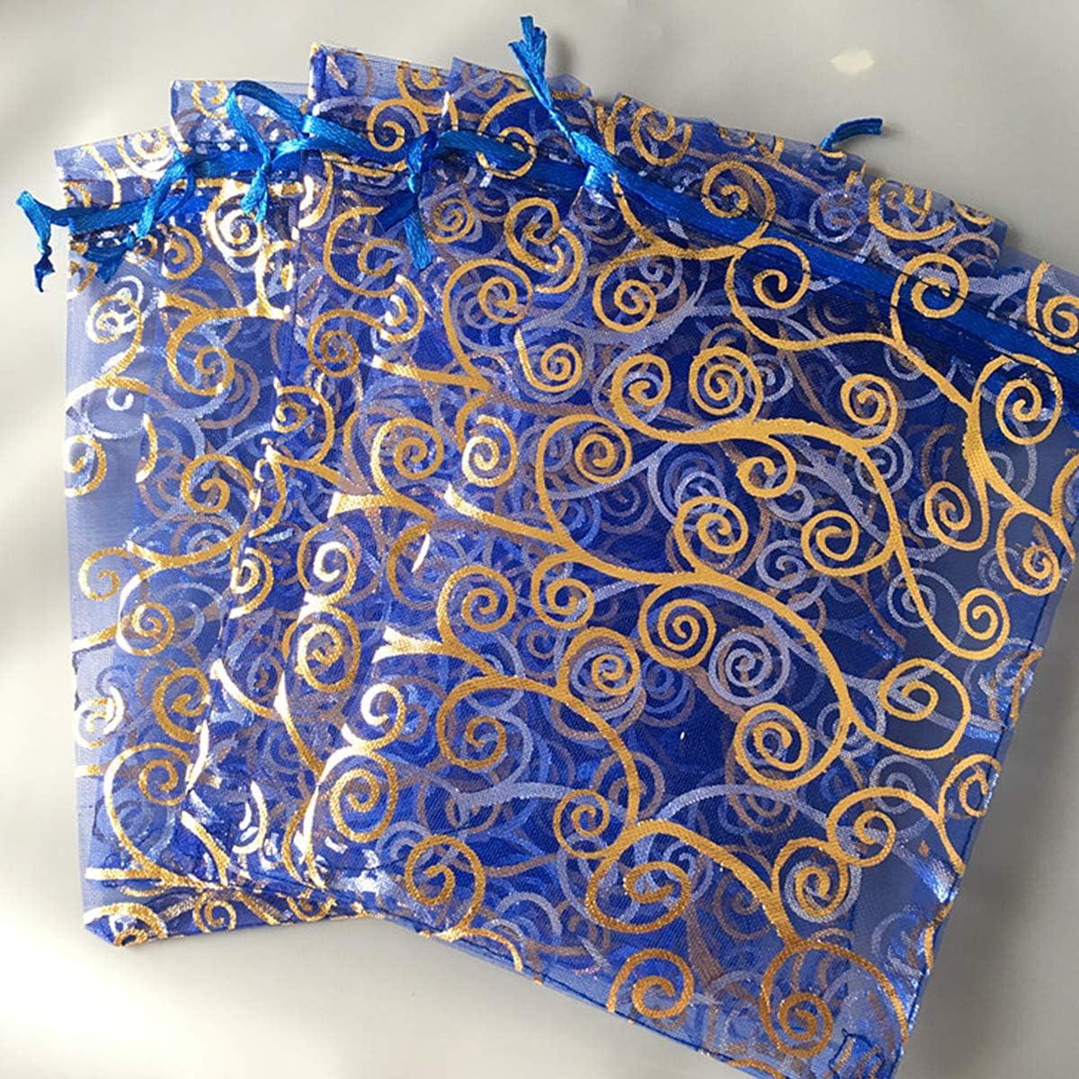Multicolori Organza Bags Saccgetti Portaconfetti Borse Gioielli Sacchetto di Caramelle Bianca PLECUPE 100 Pezzi 7x9cm Sacchetti Organza Sacchetti Regalo
