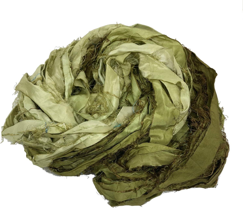 Rare KnitSilk Brand - Super Bulky Recycled O in Ultra-Cheap Deals Yarn Silk Sari Ribbon