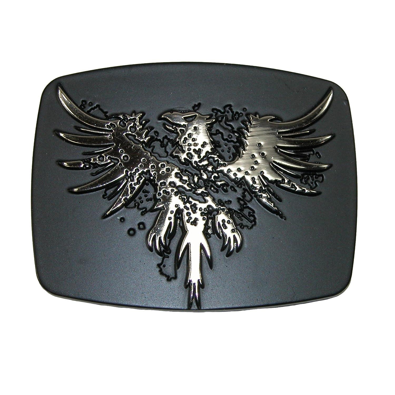 Silver Chrome Phoenix Belt Buckle