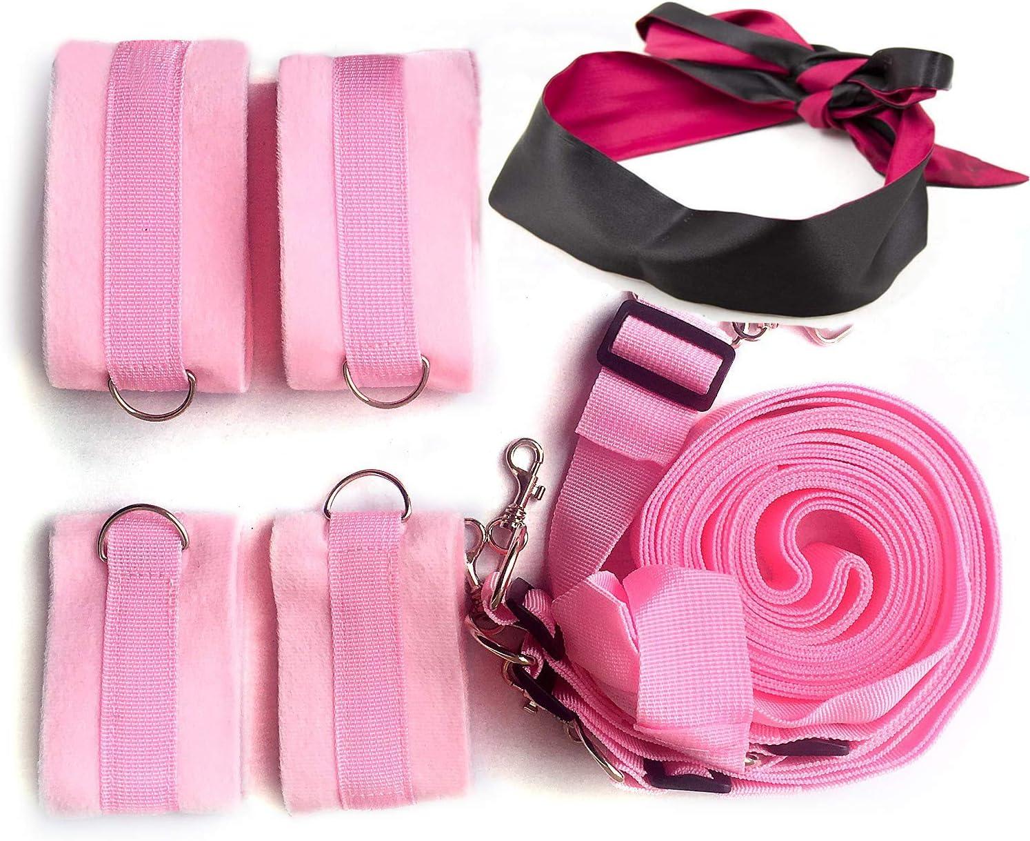 weomgt Womans Bed Tied Str/áps Bedroom Cuffs Set