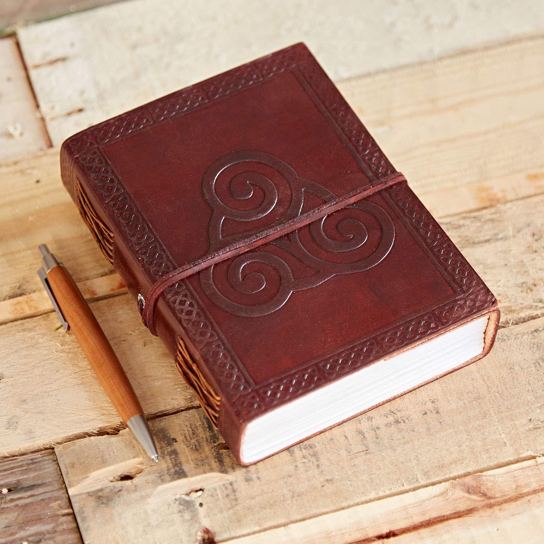 Celtic Triskelion Symbol Leather Journal Notebook