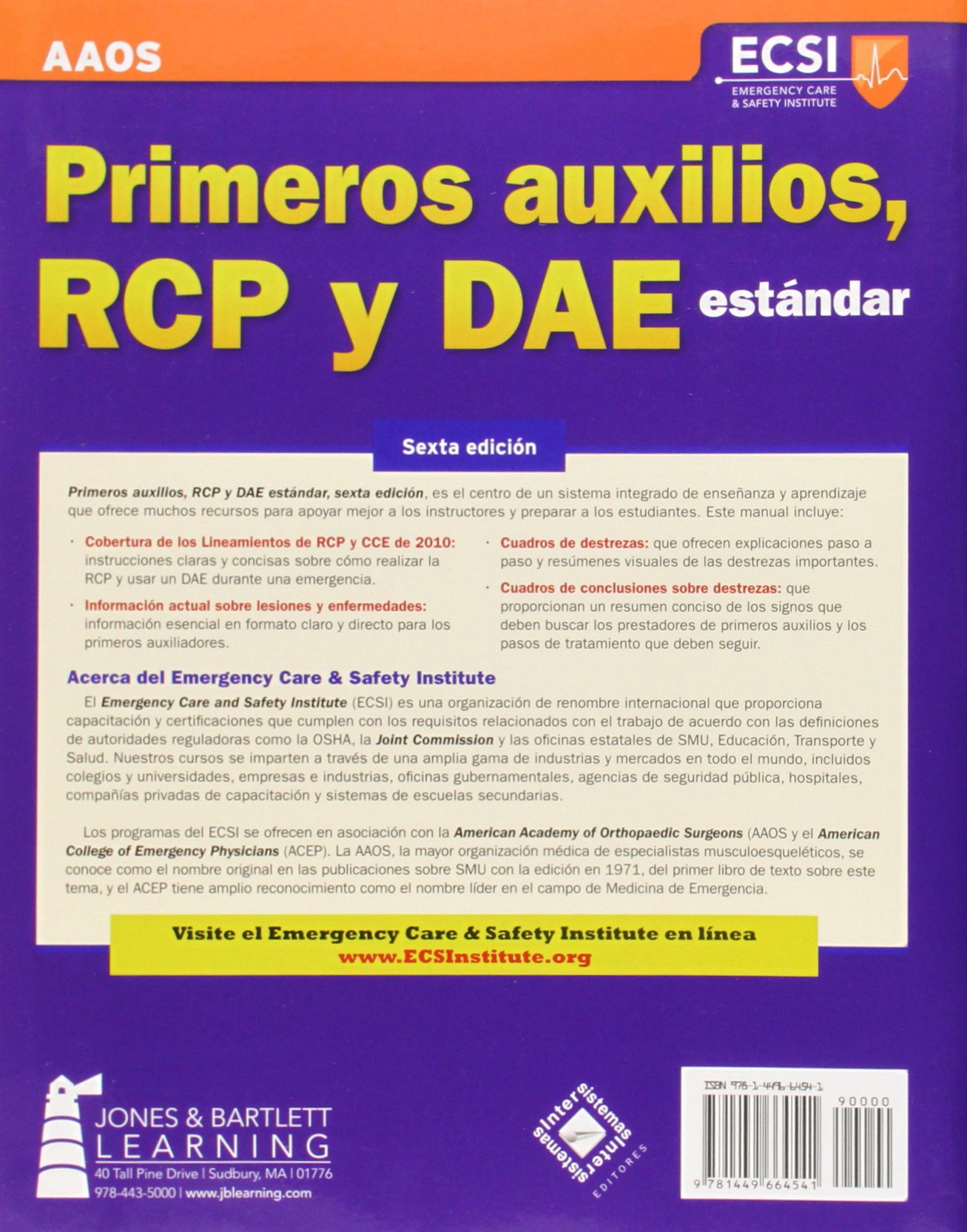 Primeros auxilios rcp y dae estandar sexta edicion amazon primeros auxilios rcp y dae estandar sexta edicion amazon american academy of orthopaedic surgeons aaos american college of emergency physicians fandeluxe Image collections