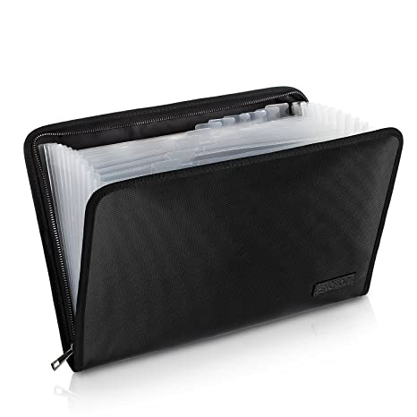 fa99129e8017 Fireproof File Folder Fireproof Fire and Water Resistant Money Document Bag  with A4 Size 13 Pockets Zipper Closure Non-itchy Silicone Coated Portable  ...