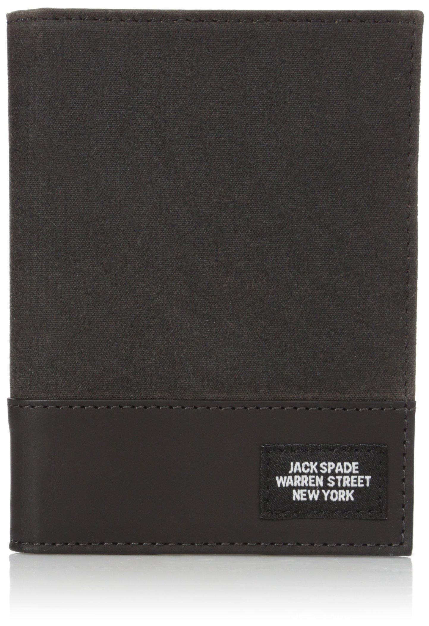 Jack Spade Men's Waxwear Passport Wallet, One SIze, chocolate by Jack Spade