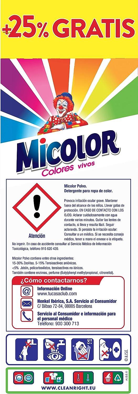 Micolor Detergente en Polvo Colores Vivos - 25 Lavados (1.8 Kg ...
