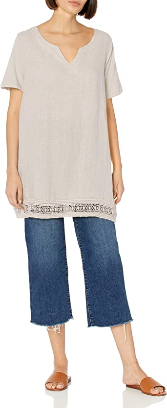 New Italian Ladies Crochet Hem Sleeveless Lagenlook Casual Comfy Summer Vest Top