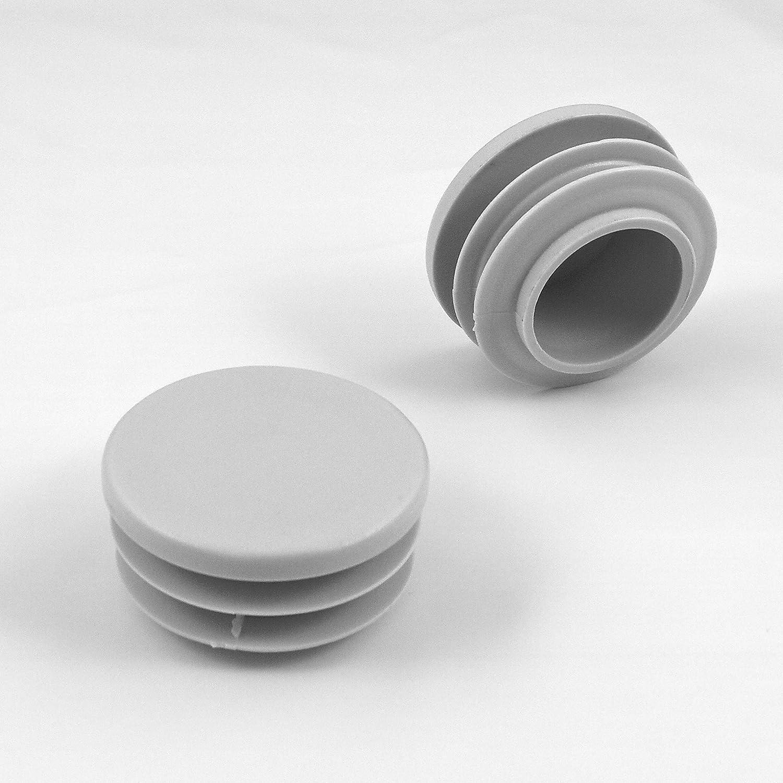 Contera redonda acanalada para tubos 4 piezas EPR350-M ajile di/ámetro 50 mm GRIS