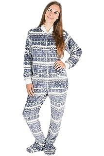 Kajamaz Navidad Plateada: Pijama con Pies para Adultos, Pijama Entero para Adultos, Pijama