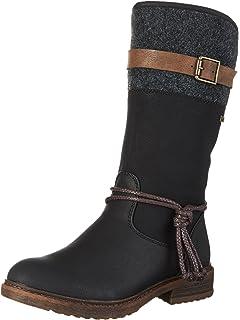 d6752b5d9eba Amazon.com   Rieker Womens 94773-00 Damen Langschaft Stiefel Winter ...