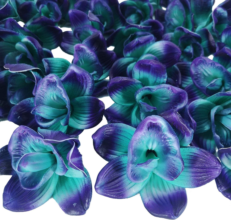 Lily Garden Big Orchids Flower Head Blue and Purple Cymbidiums Hybridum 5