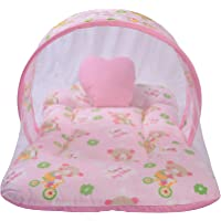 Toddylon® New Born Baby Net Bed| Baby Mattress| Baby Bedding Set- Pink (0-6 Months)
