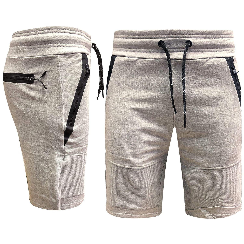 Fleece Short Summer Jogging Running GYM Sweat Men's Short Elasticated Waist