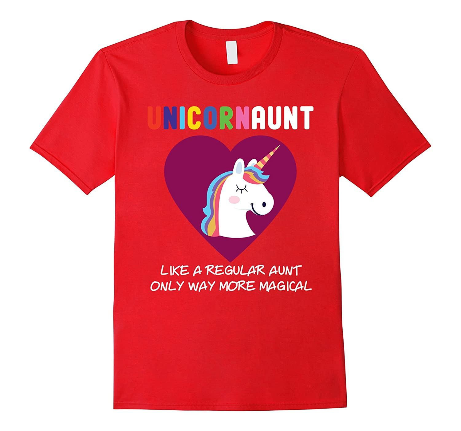 Funny Unicorn Aunt Cute Magical T-Shirt-FL