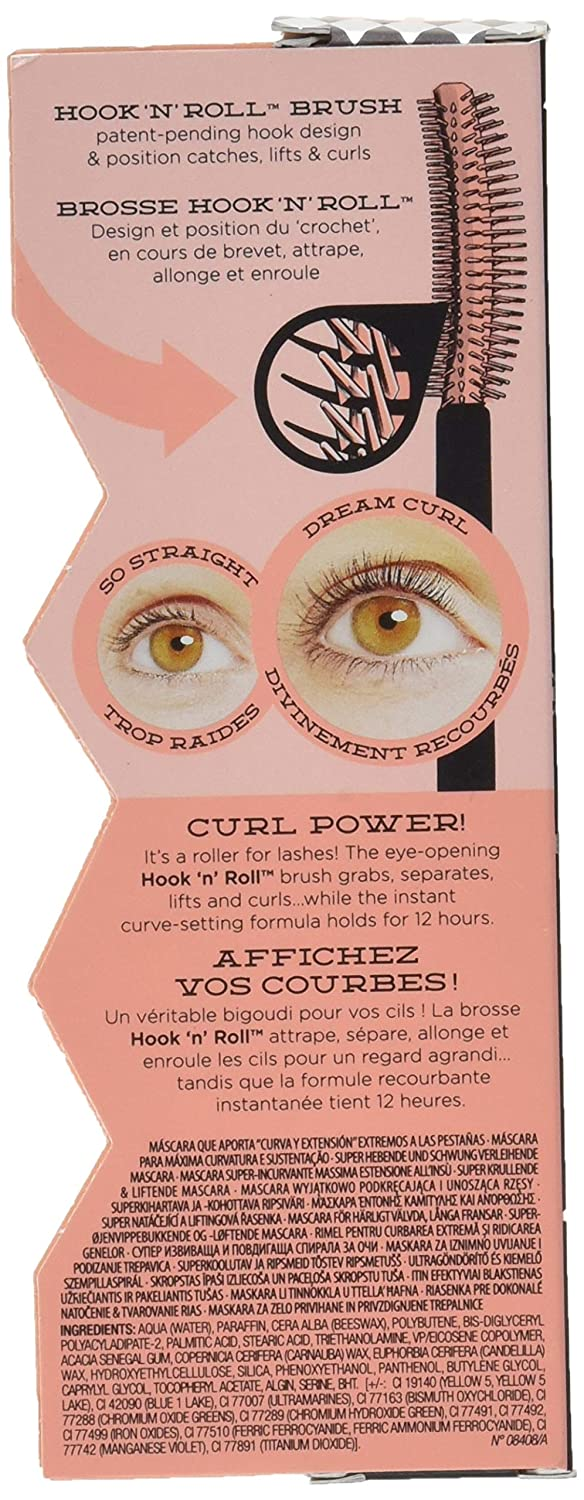 a55cc554ce0 Amazon.com : Benefit Cosmetics Roller Lash Super Curling & Lifting Mascara  in Black 0.3 oz : Beauty